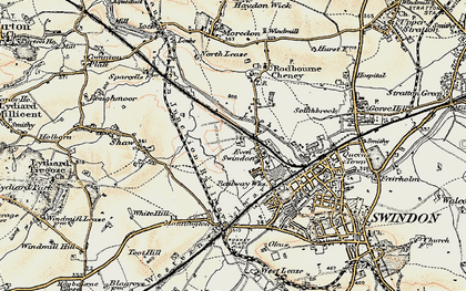 Old map of Even Swindon in 1897-1899