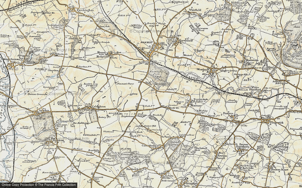 Old Map of Historic Map covering Astwick Village in 1898-1901