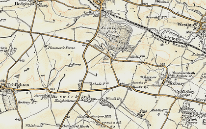 Old map of Astwick Village in 1898-1901