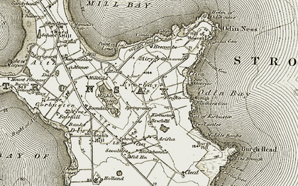 Old map of Ais Geo in 1911-1912