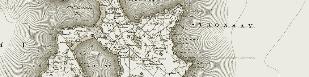 Old map of Airy in 1911-1912