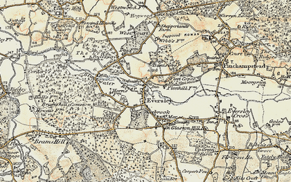 Old map of Wheatlands Manor in 1897-1909