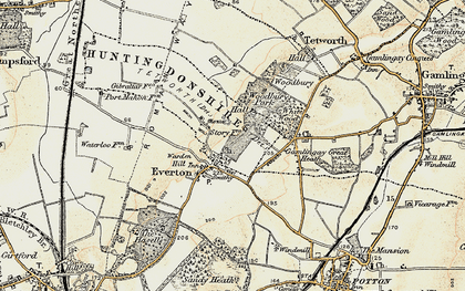 Old map of Woodbury Hall in 1898-1901