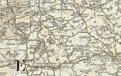 Old map of Ashen Coppice in 1899-1901