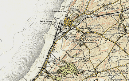 Old map of Balnakeil Forge in 1901-1905