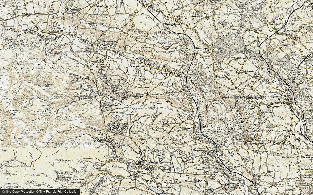 Old Map of Ewden Village, 1903 in 1903