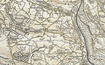 Old map of Ewden Village in 1903