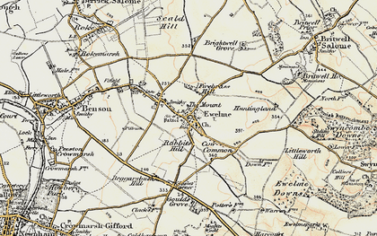 Old map of Ewelme in 1897-1898