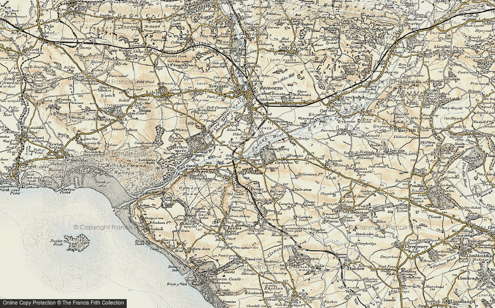Old Map of Ewenny, 1900 in 1900