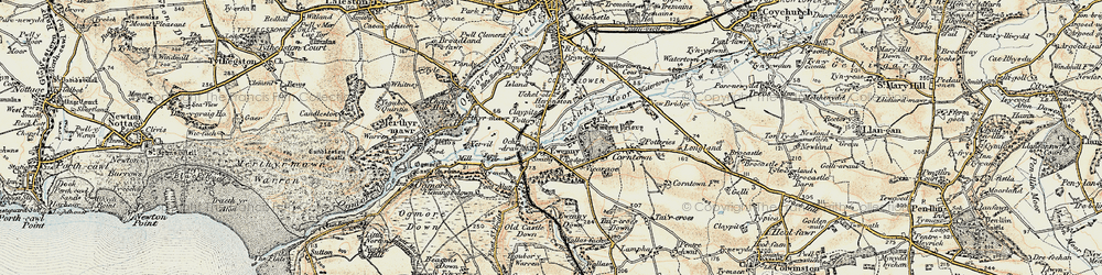 Old map of Ewenny in 1900