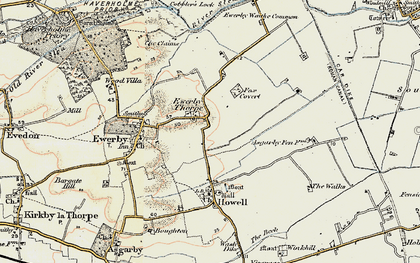 Old map of Westmorelands in 1902-1903