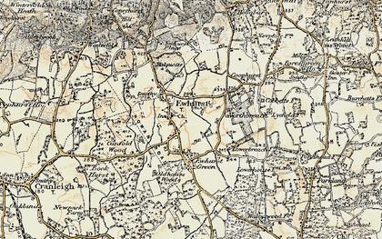Old map of Ewhurst in 1898-1909