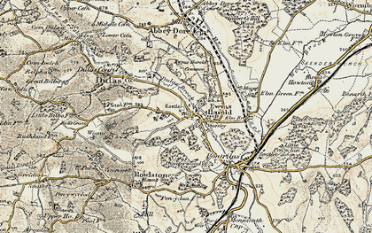 Old map of Ewyas Harold in 1900