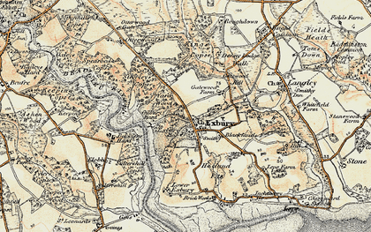 Old map of Exbury in 1897-1909
