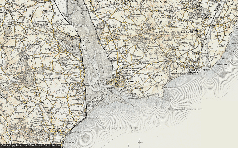 Old Map of Exmouth, 1899 in 1899