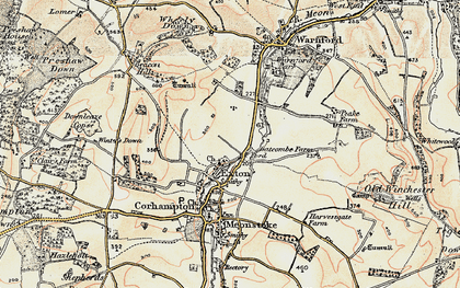 Old map of Winters Down in 1897-1900