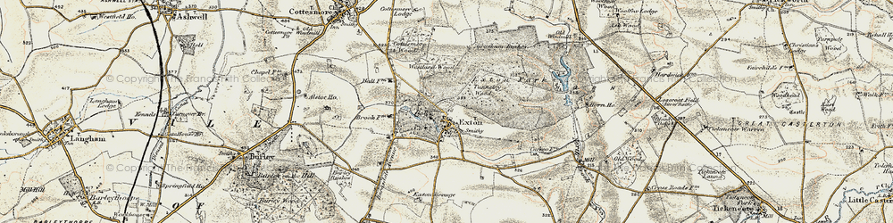 Old map of Westland Wood in 1901-1903