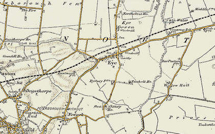 Old map of Eye in 1901-1902
