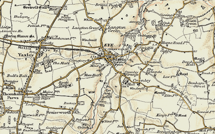 Old map of Eye in 1901