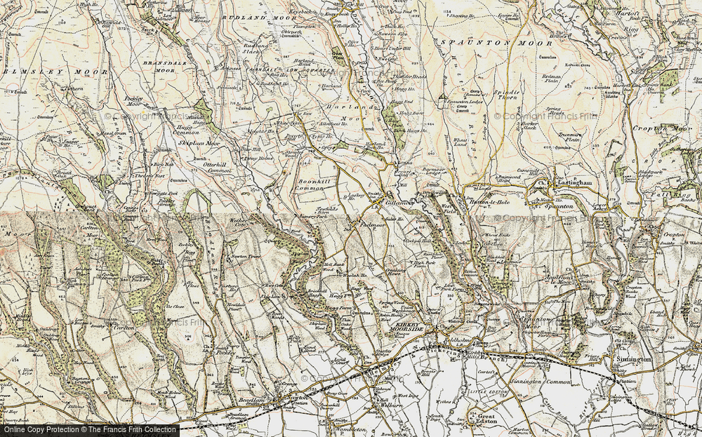 Old Map of Historic Map covering Aumery Park in 1903-1904