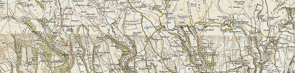 Old map of Woolah in 1903-1904