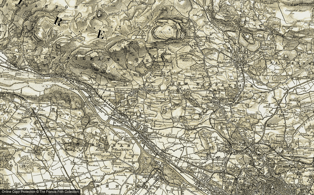 Old Map of Historic Map covering Auchnacrag in 1905