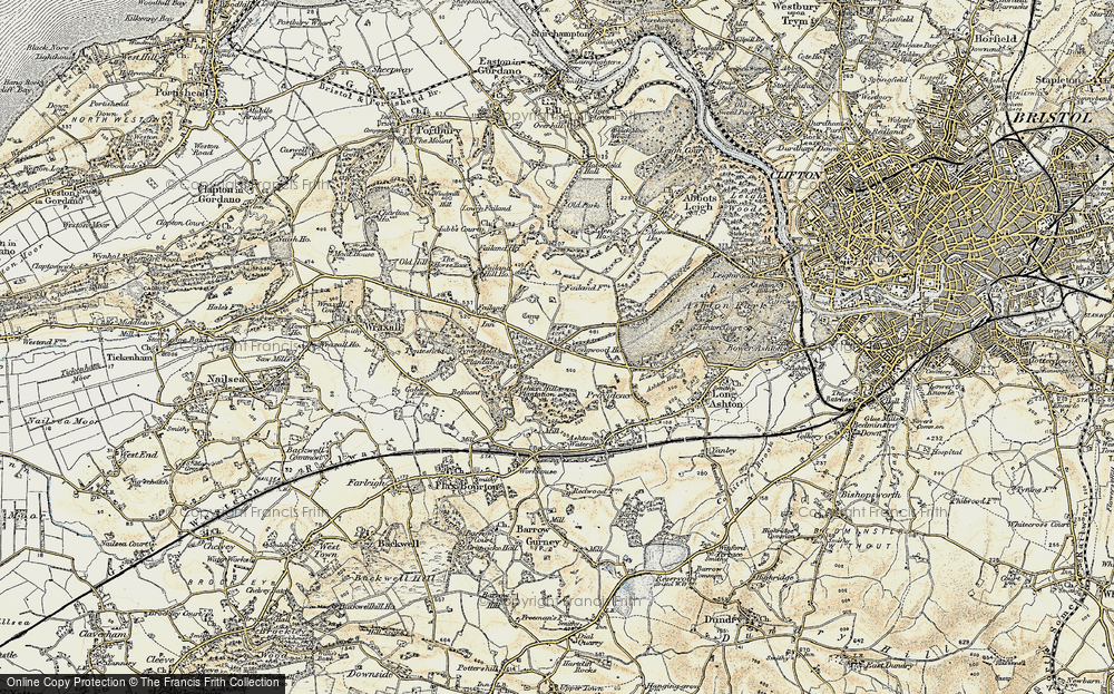 Old Map of Historic Map covering Ashton Hill Plantn in 1899