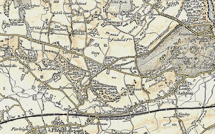 Old map of Ashton Hill Plantn in 1899