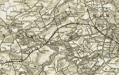 Old map of Adamcroft in 1905-1906