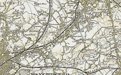 Old map of Failsworth in 1903
