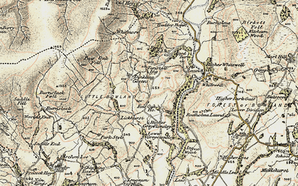Old map of Whitmore in 1903-1904