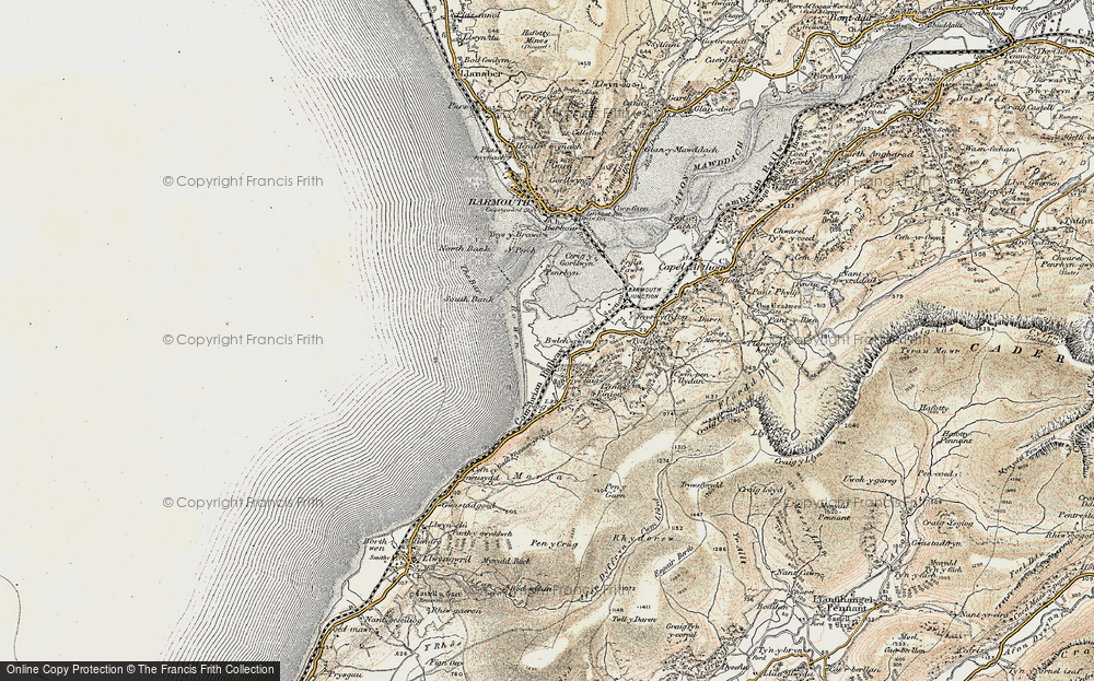 Old Map of Fairbourne, 1902-1903 in 1902-1903