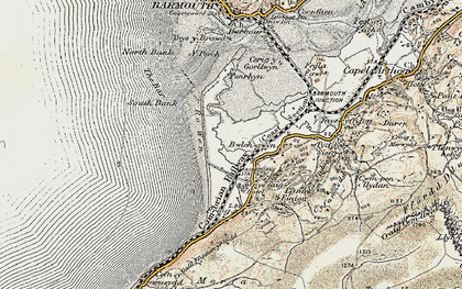 Old map of Fairbourne in 1902-1903