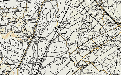 Old map of White Kemp Sewer in 1898
