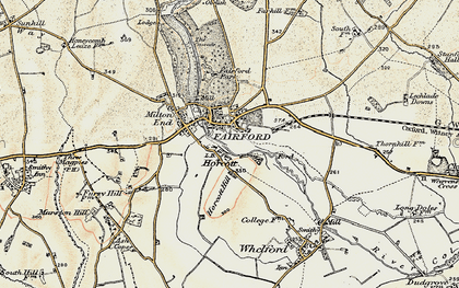 Old map of Fairford in 1898-1899