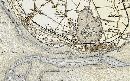 Old map of Fairhaven in 1903