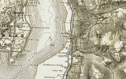 Old map of Whatside Hills in 1905-1906