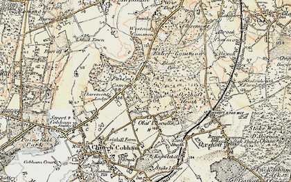 Old map of Fairmile in 1897-1909