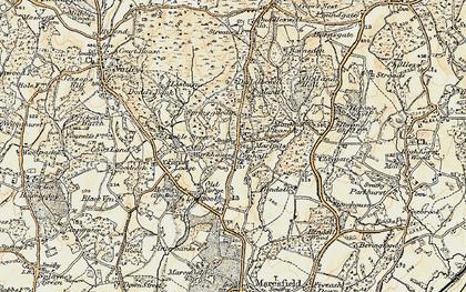 Old map of Fairwarp in 1898