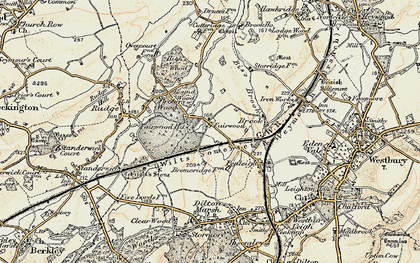Old map of Fairwood in 1898-1899