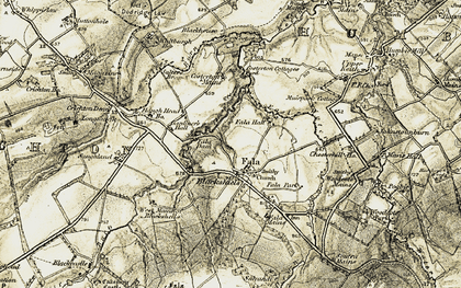 Old map of Whitburgh Ho in 1903-1904