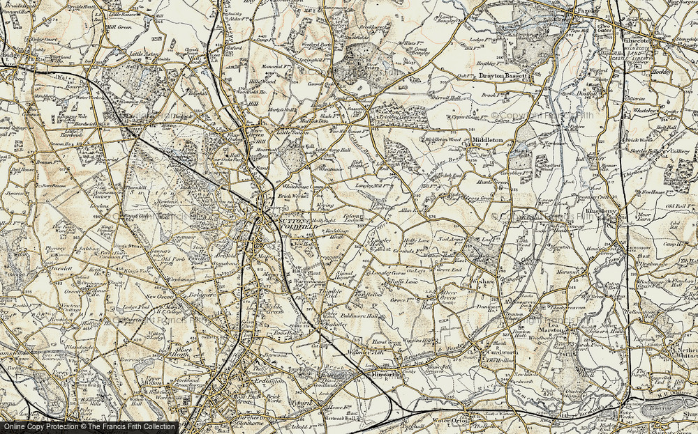 Old Map of Historic Map covering Lindridge, The in 1901-1902