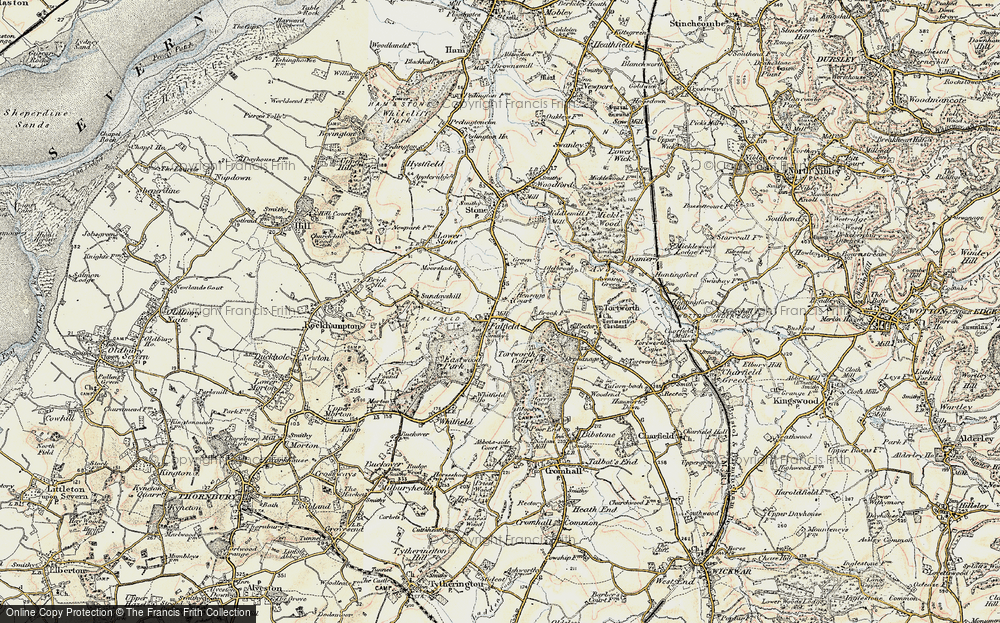 Old Map of Falfield, 1899 in 1899