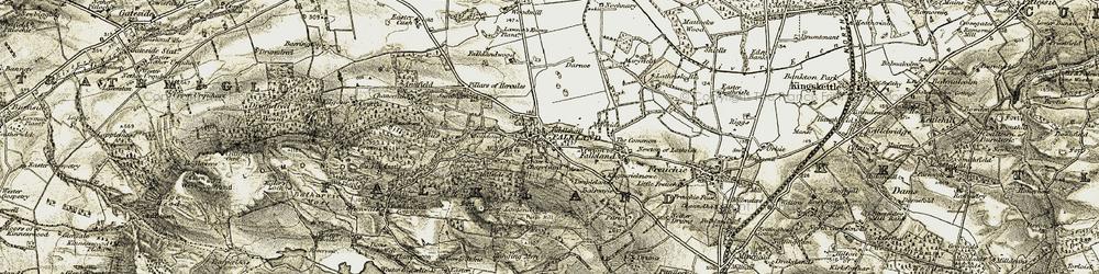 Old map of Wester Glasslie in 1906-1908