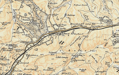 Old map of Balmer Down in 1898