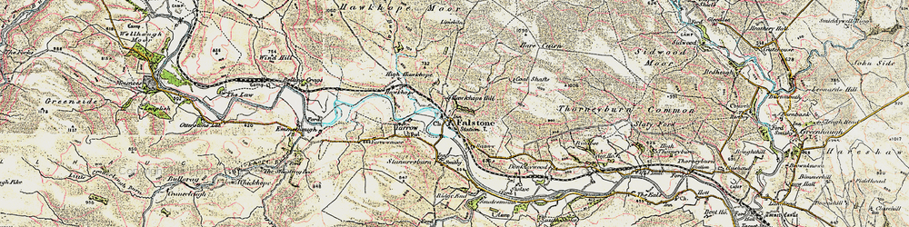 Old map of White Hill in 1901-1904