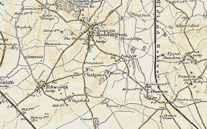 Old map of Fancott in 1898-1899