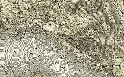 Old map of Leac nam Bà in 1906-1908