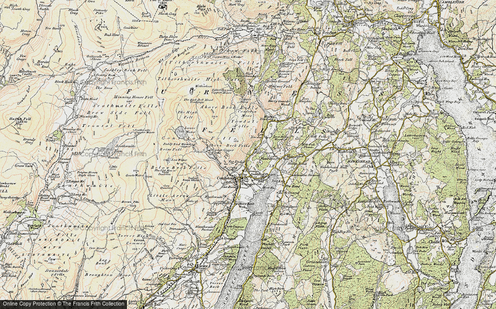 Old Map of Historic Map covering Above Beck Fells in 1903-1904