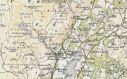 Old map of Above Beck Fells in 1903-1904